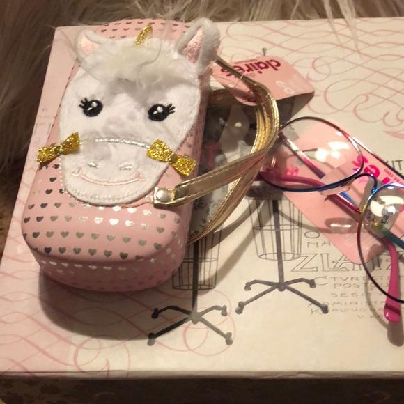 a441e86e9b Sold Claires unicorn 🦄 eyeglass case